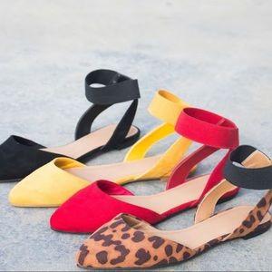 Marigold Yellow Size 6 Bamboo pointy toe flat